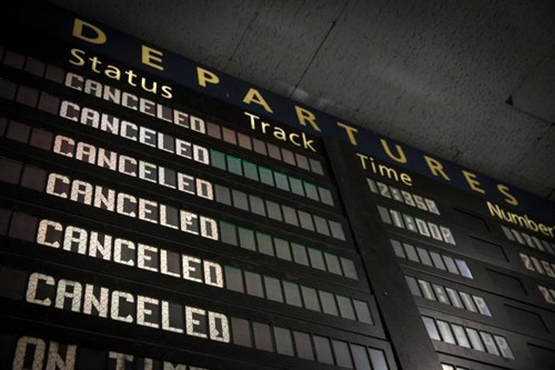 Cancelled -Departure -Board