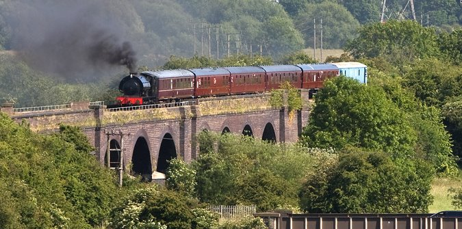 RSH No. 56 & 73110 on Stanford on Soar Viaduct